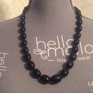 Trifari Black Beaded Fashion Necklace